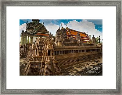 Angor Wat Miniature Framed Print