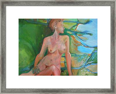 Angry And Beautiful Framed Print by Esther Newman-Cohen
