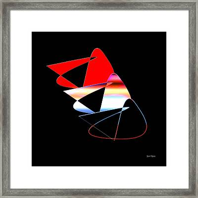 Framed Print featuring the digital art Angry Birds by Gunter Nezhoda