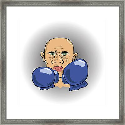 Angry Boxer Framed Print by Valerii Stoika
