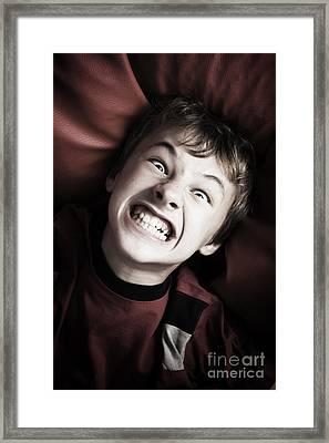 Angry Boy Portrait Framed Print