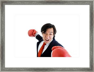Angry Business Man Framed Print by Jim Pruitt