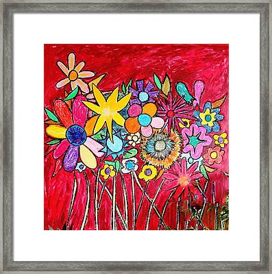 Angry Flowers Framed Print