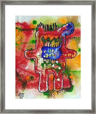 Angry Kennybot Framed Print by Kenny Henson