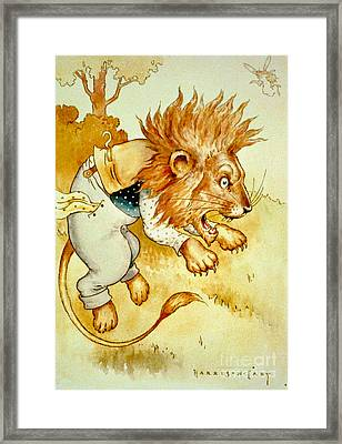Angry Lion 1907 Framed Print by Padre Art