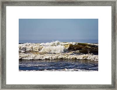Framed Print featuring the photograph Angry Ocean by Aaron Berg