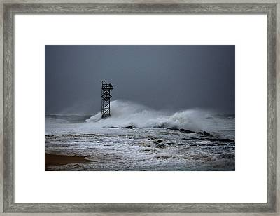 Framed Print featuring the photograph Angry Ocean In Ocean City by Bill Swartwout