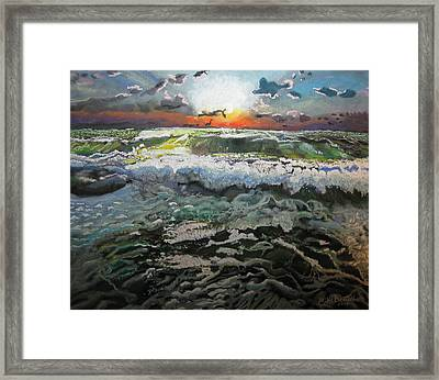 Angry Ocean Framed Print