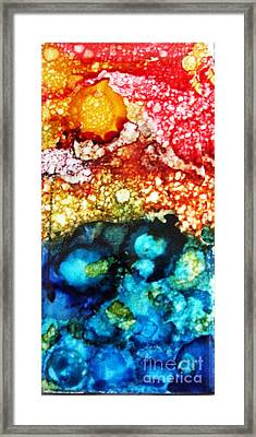 Angry Ocean Tile Framed Print