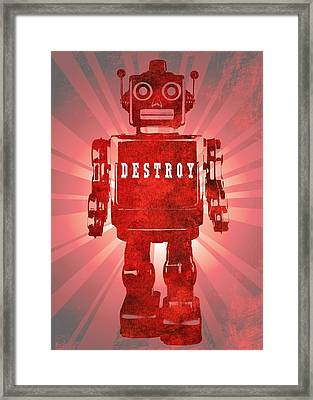 Bad Robot Framed Print by Dan Sproul