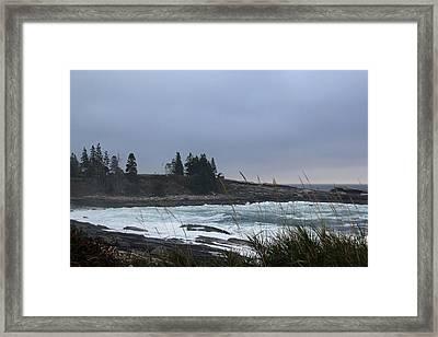 Angry Seas Framed Print