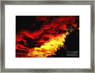 Angry Skies Framed Print