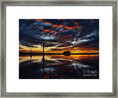 Framed Print featuring the photograph Angry Sky by Trena Mara