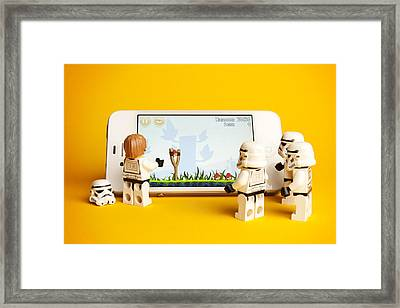 Angry Birds Storm Troopers Framed Print