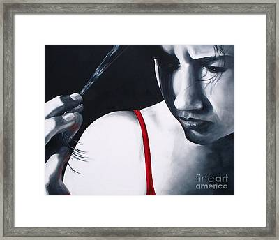 Angst Framed Print by Diane Daigle