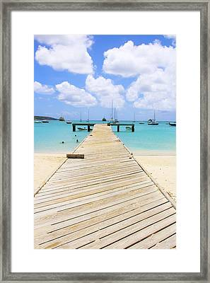 Anguilla Fishing Pier Framed Print