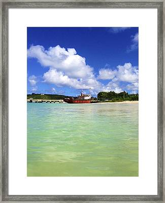 Anguilla Mr. Teds Boat Framed Print by Jennifer Lamanca Kaufman