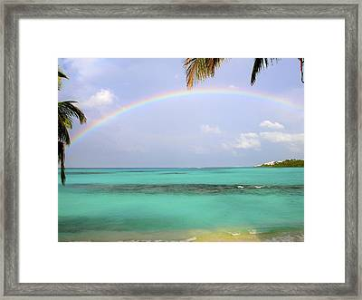Anguilla Rainbow At Shoal Bay Framed Print