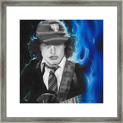Angus Young - ' Angus ' Framed Print by Christian Chapman Art