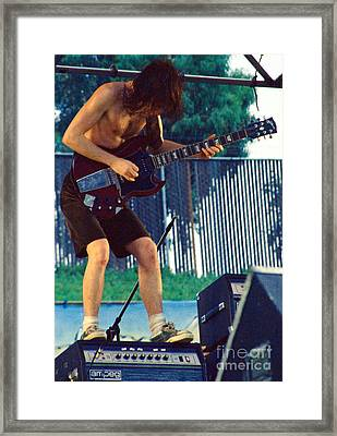 Angus Young Of A C D C At Day On The Green Monsters Of Rock Framed Print