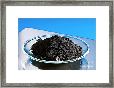 Anhydrous Iron (iii) Chloride Framed Print by Martyn F. Chillmaid