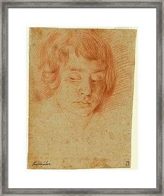 Aniello Falcone Italian, 1607 - 1656, Head Of A Boy Framed Print by Quint Lox