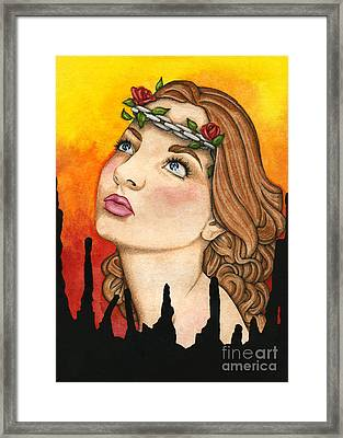 Anima Sola Framed Print by Nora Blansett
