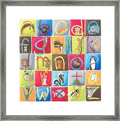 Animal Alphabet Framed Print by Tracie Davis