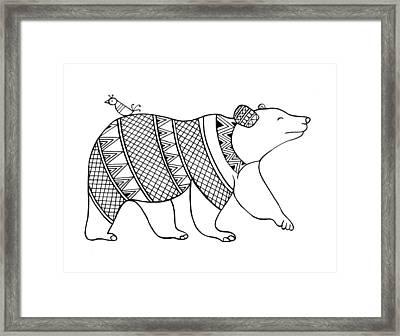 Animal Bear Framed Print by Neeti Goswami