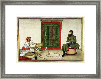 Animal Conjuror In India Framed Print by British Library