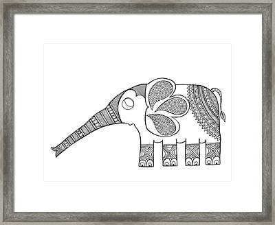 Animal Elephant Baby Framed Print