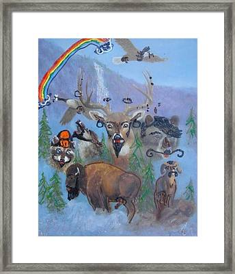 Framed Print featuring the painting Animal Equality by Lisa Piper