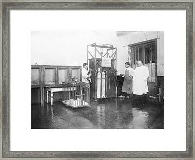 Animal Euthanasia, Early 20th Century Framed Print by Science Photo Library