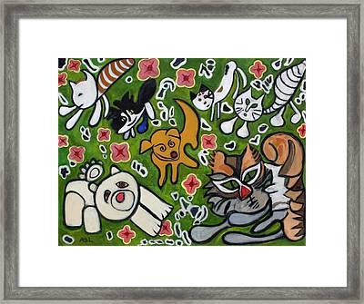 Animal Family Framed Print