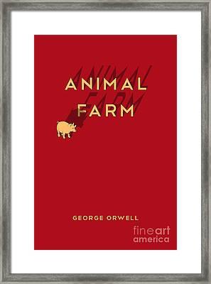 Animal Farm Book Cover Poster Art 1 Framed Print