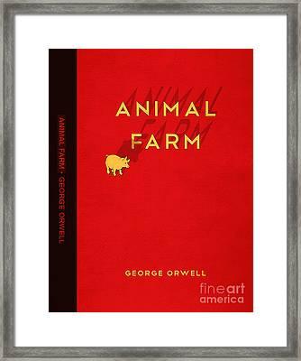 Animal Farm Book Cover Poster Art 2 Framed Print