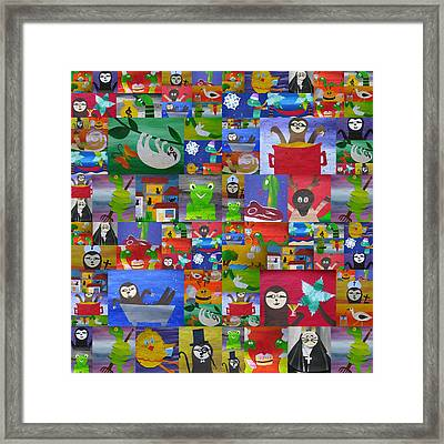 Animal Fiesta Framed Print by Cathy Jacobs