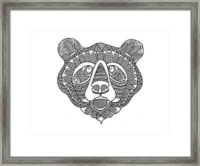 Animal Head Bear Framed Print