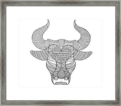 Animal Head Bull Framed Print