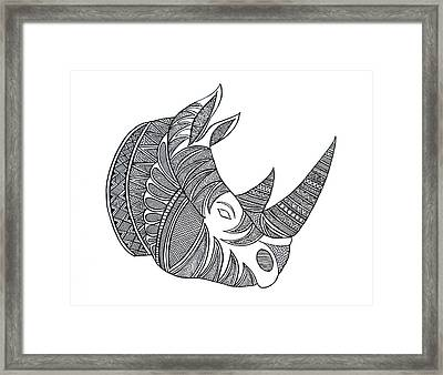 Animal Head Hippo Framed Print