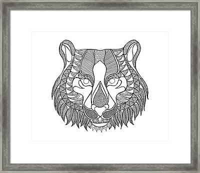 Animal Head Tiger Framed Print
