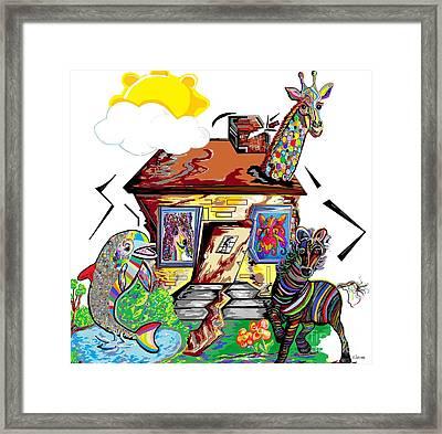 Animal House Framed Print by Eloise Schneider