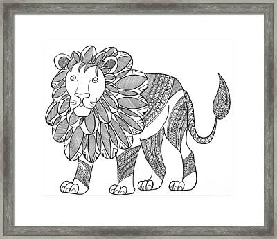 Animal Lion Framed Print