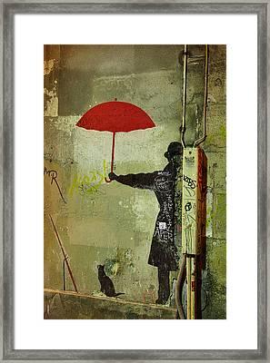 Animal Lover In Paris Framed Print