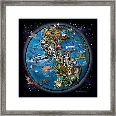 Animal Planet Framed Print