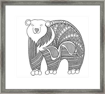 Animal Polar Bear Framed Print by Neeti Goswami