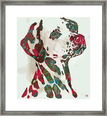 Animal Pop Art Etching Poster - Dog - 5 Framed Print by Kim Wang
