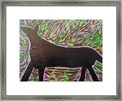 Animal Primitive Framed Print by Dotti Hannum