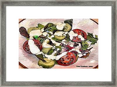 Animal Salad Framed Print