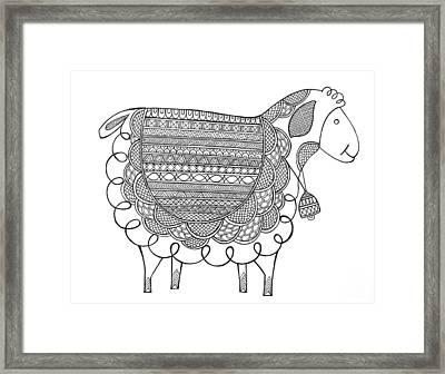 Animal Sheep 2 Framed Print